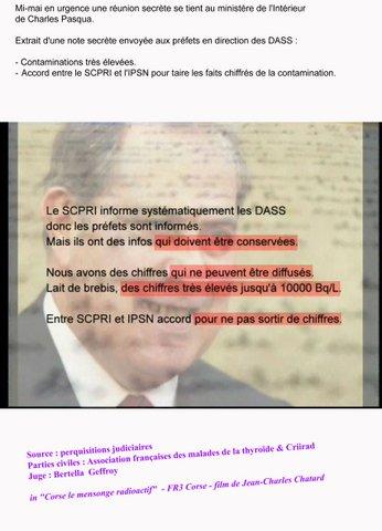 Mi-mai en urgence une réunion secrète se tient au ministère de l'intérieur de Charles Pasqua.